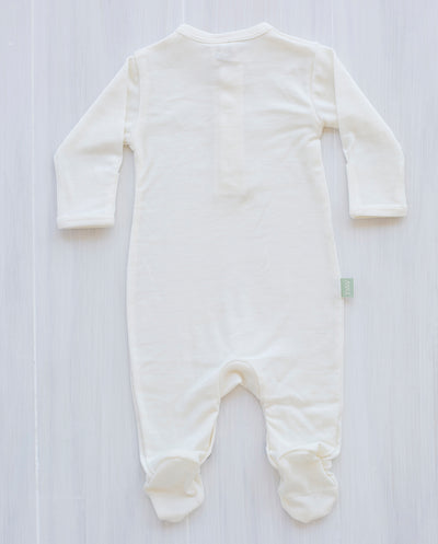 cream organic merino wool jumpsuit