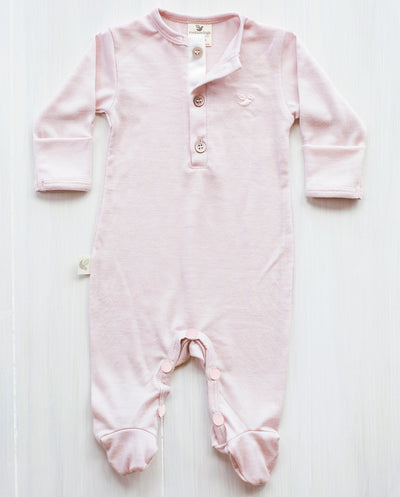 pink new zealand merino jumpsuit