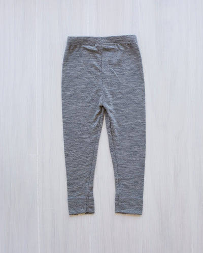 grey merino rib leggings for kids