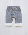 grey marle merino wool baby pants