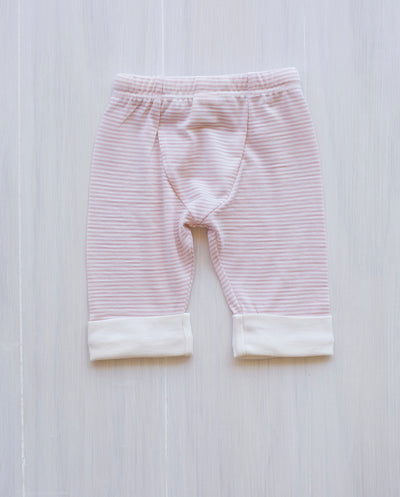 stripe rose organic merino drawstring pants
