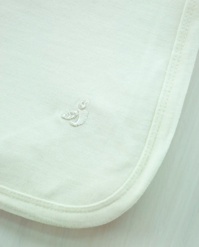 cream merino swaddle for newborn babies