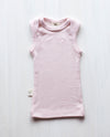 dusty rose rib merino baby vest