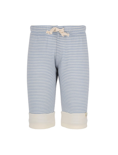 blue stripe organic merino drawstring pants