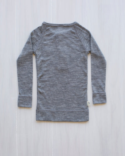 grey merino wool rib top
