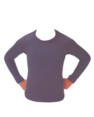 grey slate organic merino long sleeve top tweens clothing