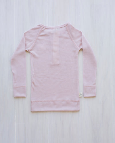 pink merino wool top kids