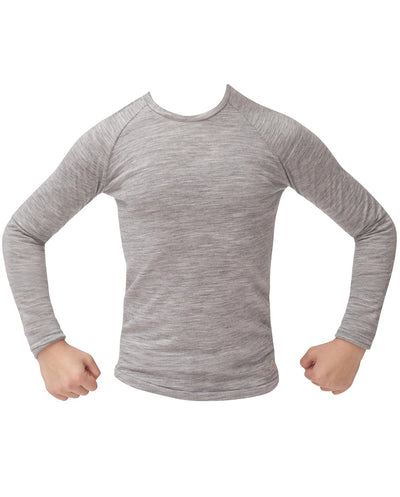 stone organic merino long sleeve top