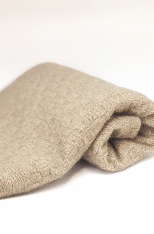 baby swaddle blanket in softest light merino and possum fur