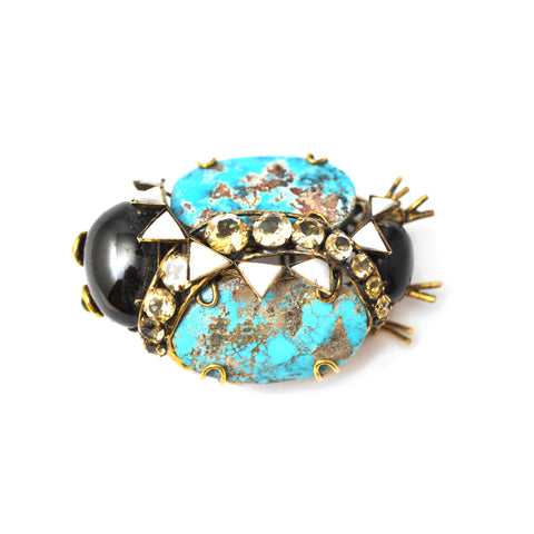 turquoise beetle pin