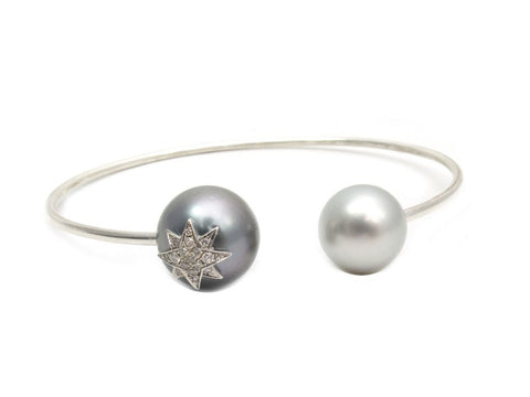 pearl and diamond cuff