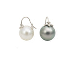 mismatched flying pearl earrings