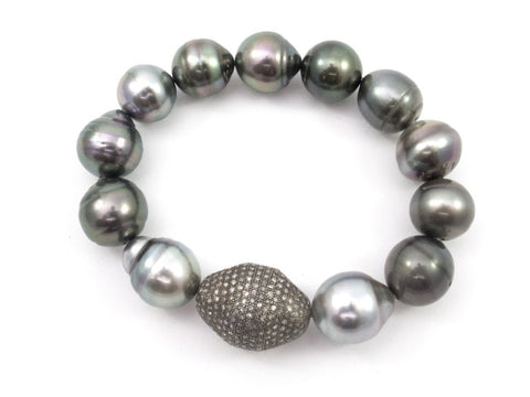 Samira 13 pearl and diamond bracelet