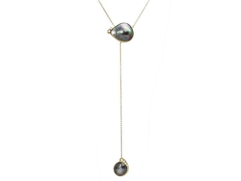 Samira 13 pearl lariat necklace