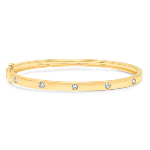 Gold and diamond bangle