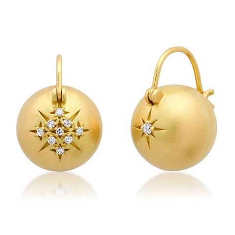 Golden Globe flying Star earrings