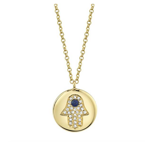 Hamsa Coin Necklace