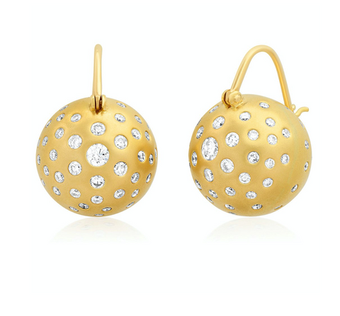 Diamond Sprayed Globe flying earrings