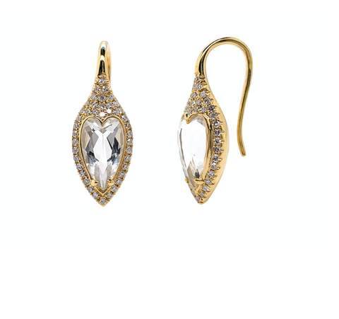Diamond Topaz Drop earrings