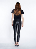 ankle leather legging