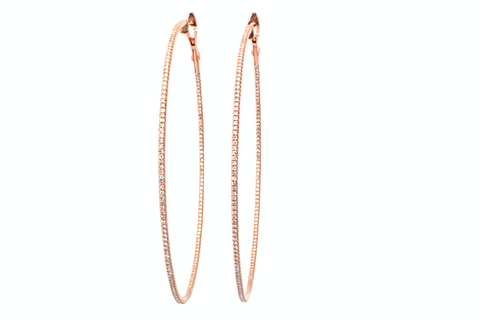 Micro Pave hoops