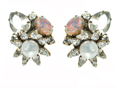 Opal Clip Earrings