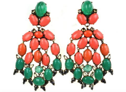 Coral Multi-Drop Earrings