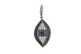 Samira 13 diamond evil eye pendant