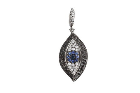 diamond evil eye pendant