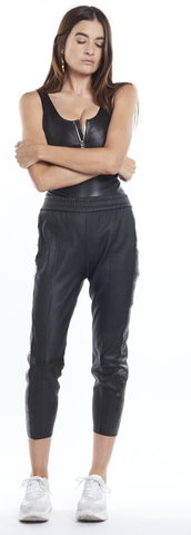 Slim Leather Jogger
