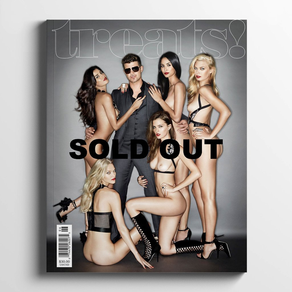 Treats Magazine - Fashion nude photography, treats! Issue 6 - Robin Thicke