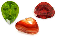August Birthstone: Peridot, Sardonyx, Spinel
