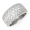 3.00CT Round Diamond Cigar Band Anniversary Ring White Gold