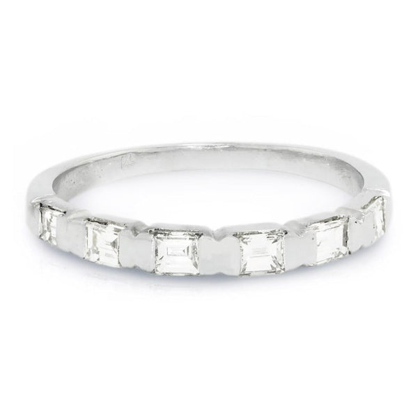 Once Upon A Diamond Band Baguette Diamond Channel Set Wedding Band 14K .50ctw