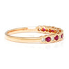 Once Upon A Diamond Band Rose Gold Supreme Ruby & Diamond Wedding Band Stackable Rose Gold