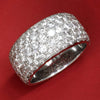 Once Upon A Diamond Band White Gold 3.00CT Round Diamond Cigar Band Anniversary Ring White Gold