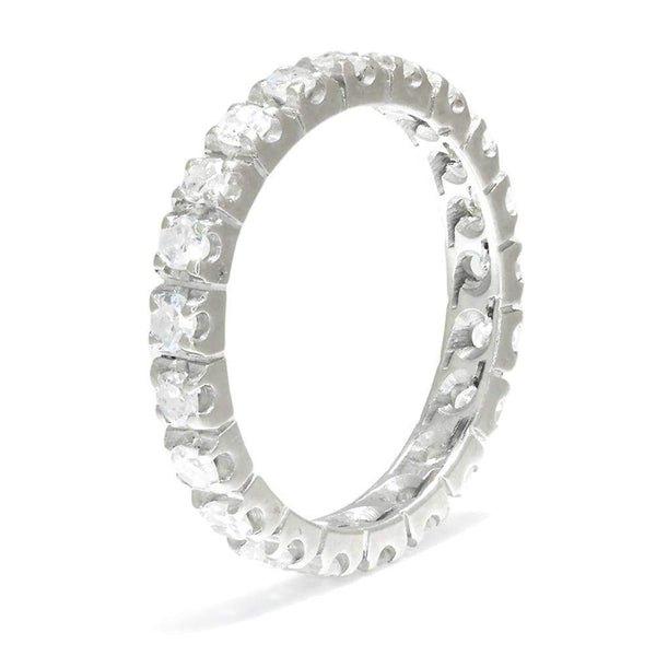 Once Upon A Diamond Band White Gold Single Cut Diamond Eternity Band 14K White Gold 1.05ctw