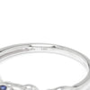Once Upon A Diamond Band White Gold Supreme Sapphire & Diamond Leaf Wedding Band Stackable 14K