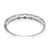 Once Upon A Diamond Band White Gold Supreme Sapphire & Diamond Wedding Band Stackable 18K