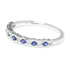 Supreme Sapphire & Diamond Wedding Band Stackable 18K