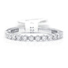 Once Upon A Diamond Band White Gold Tacori Sculpted Crescent Round Diamond Wedding Band 18K