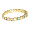 Once Upon A Diamond Band Yellow Gold Turquoise Band with Diamonds 14K Yellow Gold 0.26ctw