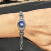 Once Upon A Diamond Bracelet Platinum Certified Art Deco Star Sapphire Bracelet with Diamonds Platinum