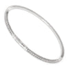 Once Upon A Diamond Bracelet White Gold 1.51ctw Round Diamond Stretchy Tennis Bangle White Gold 6.75""