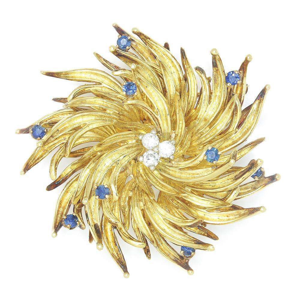 a6d19ed65 Once Upon A Diamond Brooch Yellow Gold & Platinum Vintage Tiffany Starburst  Diamond Brooch Pin with ...