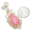 Once Upon A Diamond Earrings Rose Gold Teardrop Pink Quartz Earrings with Rose Cut Diamonds 18K