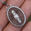 Once Upon A Diamond Earrings White Gold Antique Old Euro Diamond Filigree Pendant Necklace 14K 0.20ctw