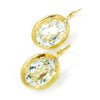 Once Upon A Diamond Earrings Yellow Gold Aquamarine Leverback Earrings with Diamonds 14K 2.02ctw
