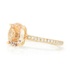 Once Upon A Diamond Engagement Ring Rose Gold Oval Morganite Ring with Pave Diamonds Rose Gold 1.74ctw