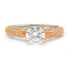 Once Upon A Diamond Engagement Ring Rose & White Gold Noam Carver Floral Engagement Ring Semi-Mount White/Rose Gold